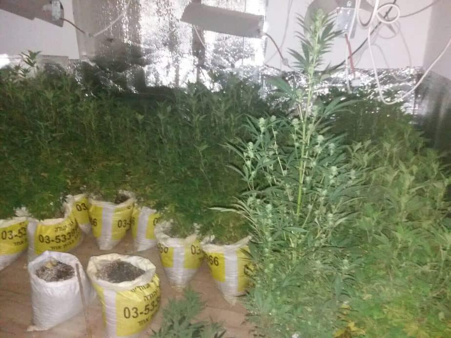 מעבדת סמים באור יהודה- צילום משטרת ישראך