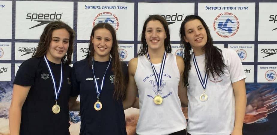 שחייני קריית אונו זכו במקום השלישי באליפות ישראל