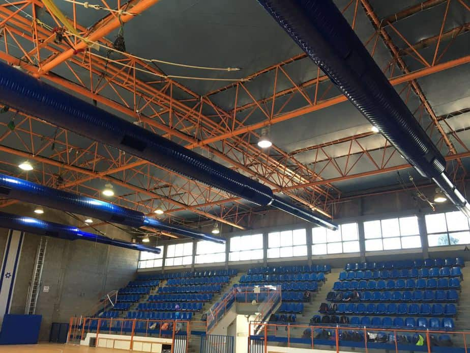 """בפרויקט מיזוג האולמות של עיריית יהוד מונוסון יצאה לדרך- אולם הספורט בבית הספר """"אורנים"""" מוזג"""