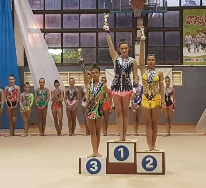 בנות הפועל אור יהודה בהתעמלות אומנותית כיכבו באליפות ישראל