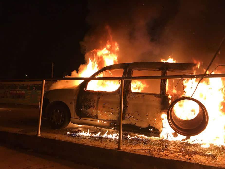 הצתת רכב מול טאטי ביהוד