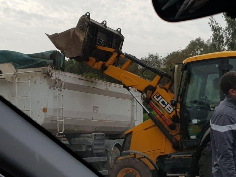 תפיסת משאית בקריית אונו