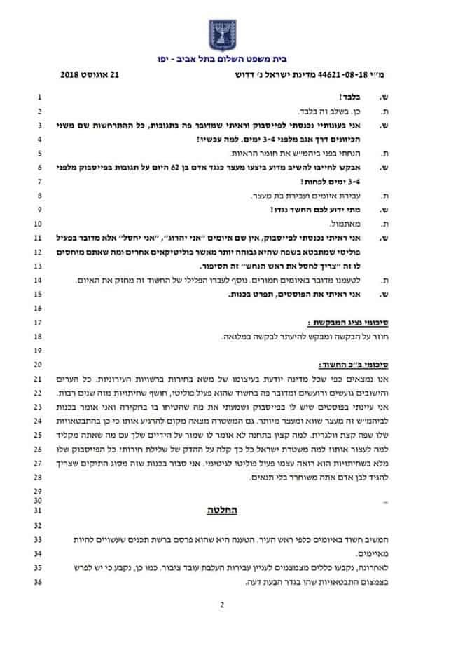 איומים על ראש עיר אור יהודה